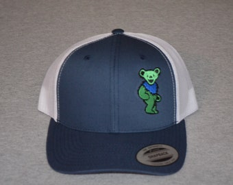 0d0299a06e3ea Grateful Dead -- Owsley Dancing Bear on a Navy Blue  White Mesh color  Yupoong Trucker Hat ----FREE Shipping----