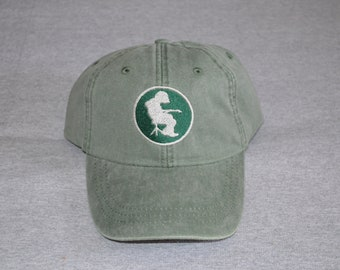 979c398a2b8 Michael Houser Silhouette -- Evergreen   Silver-- Centered On a Spruce  Color Adams Brand Unstructured Baseball hat --- FREE Shipping ---