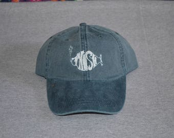 PHISH -- Single Color Logo in White -- Center On a Navy Blue Color Adams  Brand Twill Unstructured Baseball hat --- FREE Shipping --- f20f56c026e6