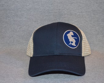 8c1cf32a89c Widespread Panic --Michael Houser Silhouette on a Pacific Blue color Trucker  Hat ----FREE Shipping----