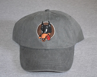 d916db10 Grateful Dead -- Garcia Guitar -- Wolf- Centered On a Charcoal Gray Color  Adams Brand Twill Unstructured Baseball hat --- FREE Shipping ---