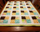 Handmade Baby Quilt - Small Quilt - Crib Bedding - Children 39 s Bedding - Children 39 s Quilt