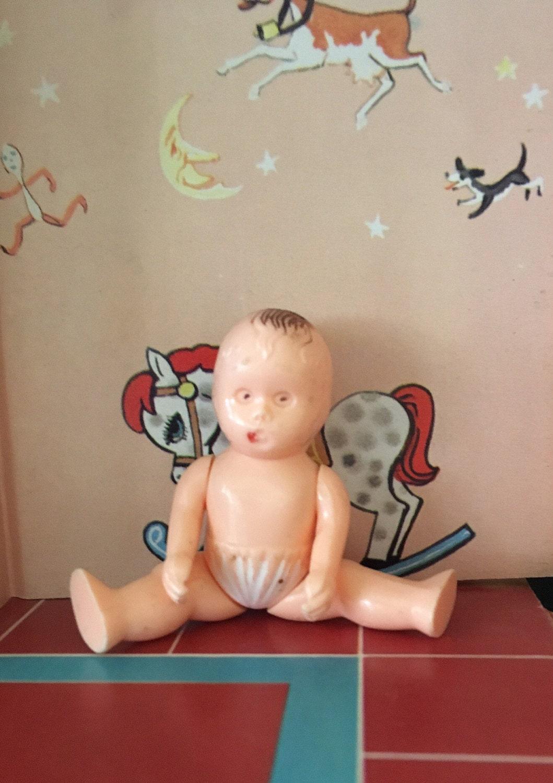 Ideal Dollhouse Baby Doll Figure Vintage Dollhouse Furniture Etsy