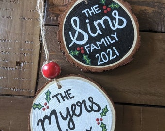 Family and Year Christmas Ornament