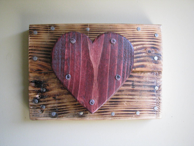 3d Pallet Heart Wall Art