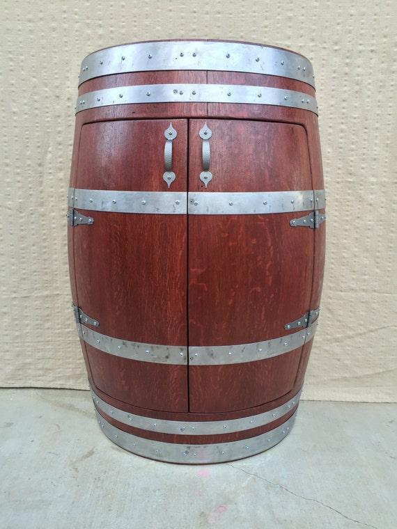 Demi Barrique Vin Armoire Meuble Tonneau De Vin Liqueur Cabinet