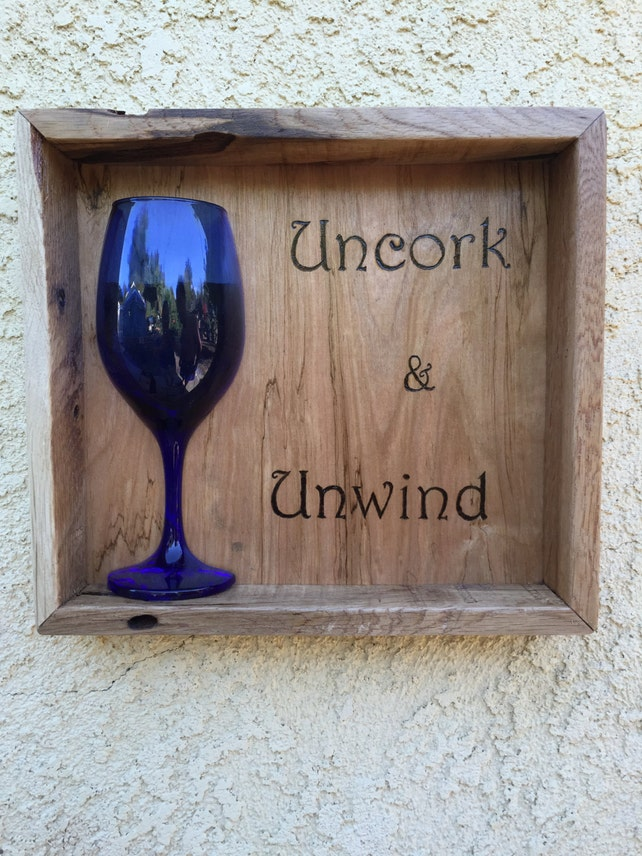 Wine Signs Shadow Box Wine Art Wooden Box Wine Art Mixed | Etsy