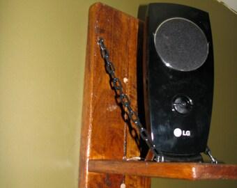 Rustic Wooden Speaker Stands