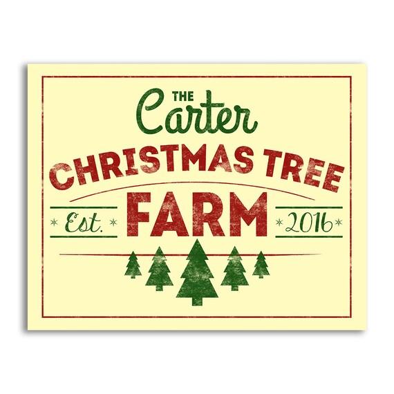 Printable Christmas Tree Farm Sign Christmas Sign For Couple Etsy