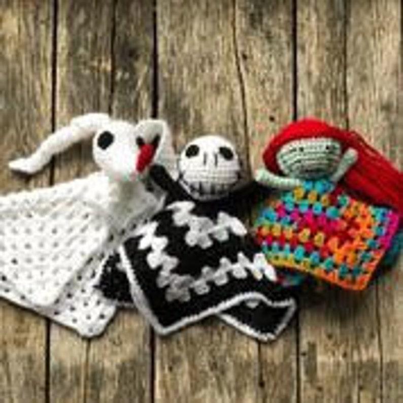 Nightmare Before Christmas Crochet Blanket.Nightmare Before Christmas Doll Crochet Fandom Amigurumi Jack Zero Sally All Three For One Price