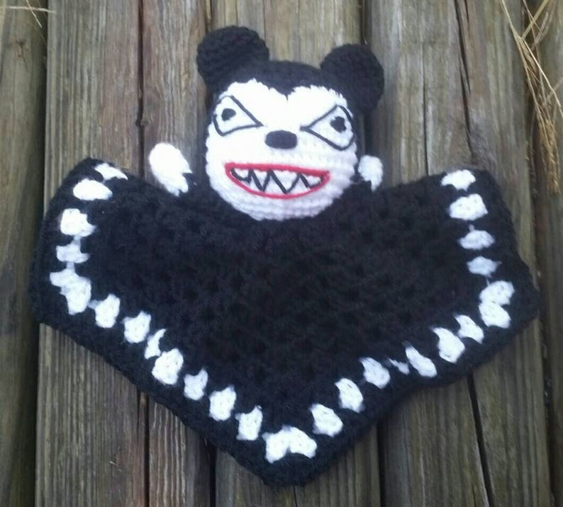Nightmare Before Christmas Crochet Blanket.Vampire Bear Crochet Lovey Doll Nightmare Before Christmas Amigurumi Fandom Jack Skellington