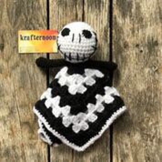 Nightmare Before Christmas Crochet Blanket.Pattern Only Jack Nightmare Before Christmas Crochet Amigurumi Blanket Lovey Fandom Crochet Pattern