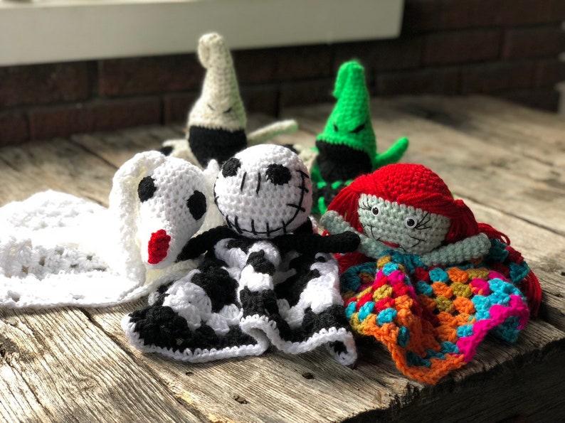 Nightmare Before Christmas Crochet Blanket.Pattern Only Jack Sally Zero Nightmare Before Christmas Crochet Amigurumi Blanket Lovey Fandom Crochet Pattern