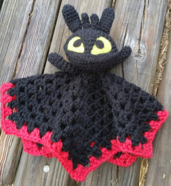 Toothless Crochet Pattern Only Lovey Toy Amigurumi Etsy