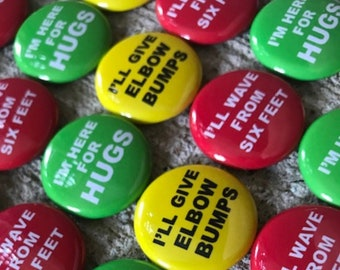 """or Name Tags Family Reunions 10 Custom Pin Back Buttons 3/"""" Great 4 Elections"""