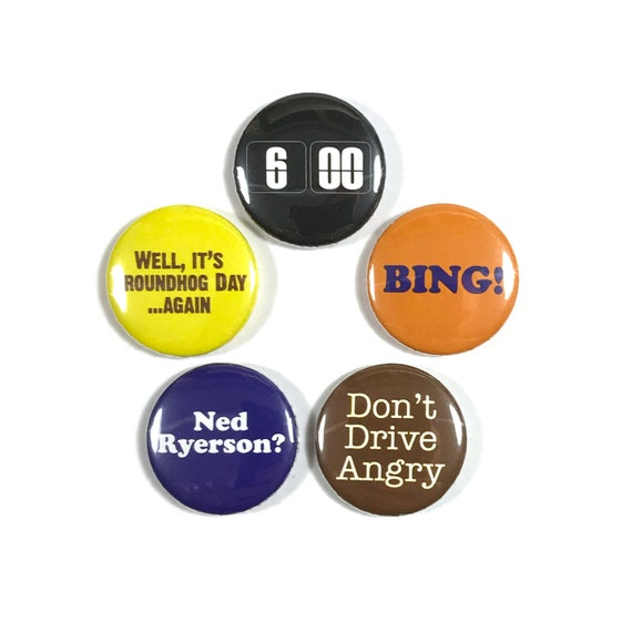 Groundhog Day Movie Quotes Bill Murray 60 Button Badge Pin Etsy Inspiration Groundhog Day Movie Quotes