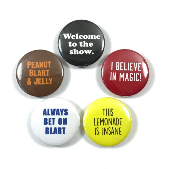 Paul Blart Mall Cop Movie Quotes Fan Art Kevin James 5 - Button Badges  Pinback Pin Set