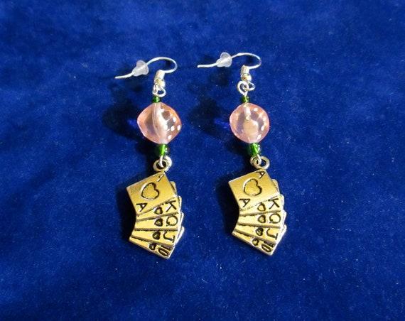 Casino Earring SVG files Dice Earrings Set of 2 Card Suit Earrings