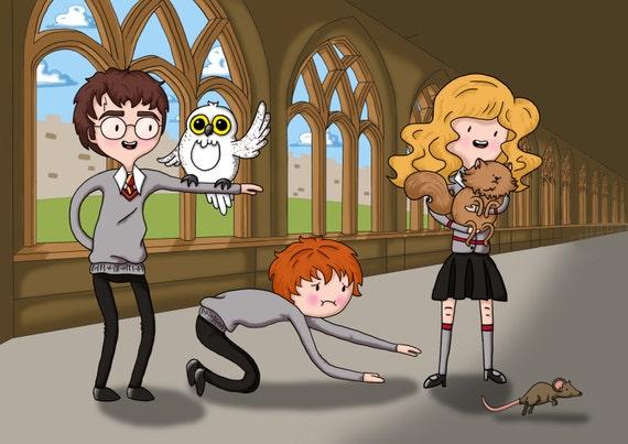 Goede Harry Potter / origineel tekening / afbeelding voor kinderen / | Etsy UT-99