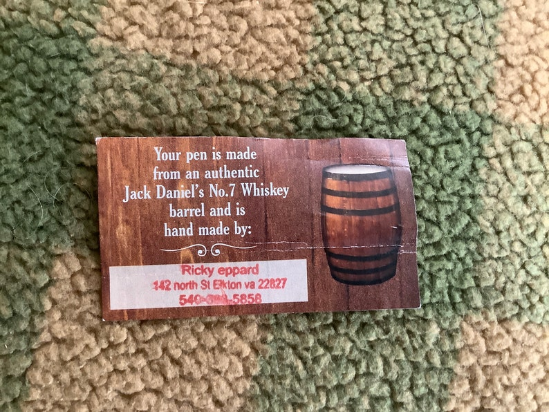 Made from jack daniels whiskey barrel. Deer Hunter Bolt Action pen