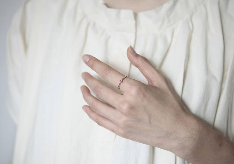July Birthstone Ruby Rosary Catholic Rosary Rumino Ruby Rosary Ring 18K Gold Ruby Rosary Ring 14K Ruby Ring Ruby