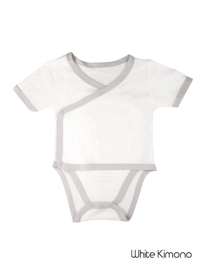 d0e13e6f67533 Body bébé Kimono bambou / Bamboobubs bébé unisexe à manches courtes Body /  Body pour bébé en bambou / bambou bébé Bodie / cadeau de bébé