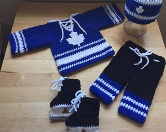 Crochet baby hockey jersey  jersey pattern only  17d49815574
