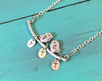 PersonalizedLove Birds Necklace