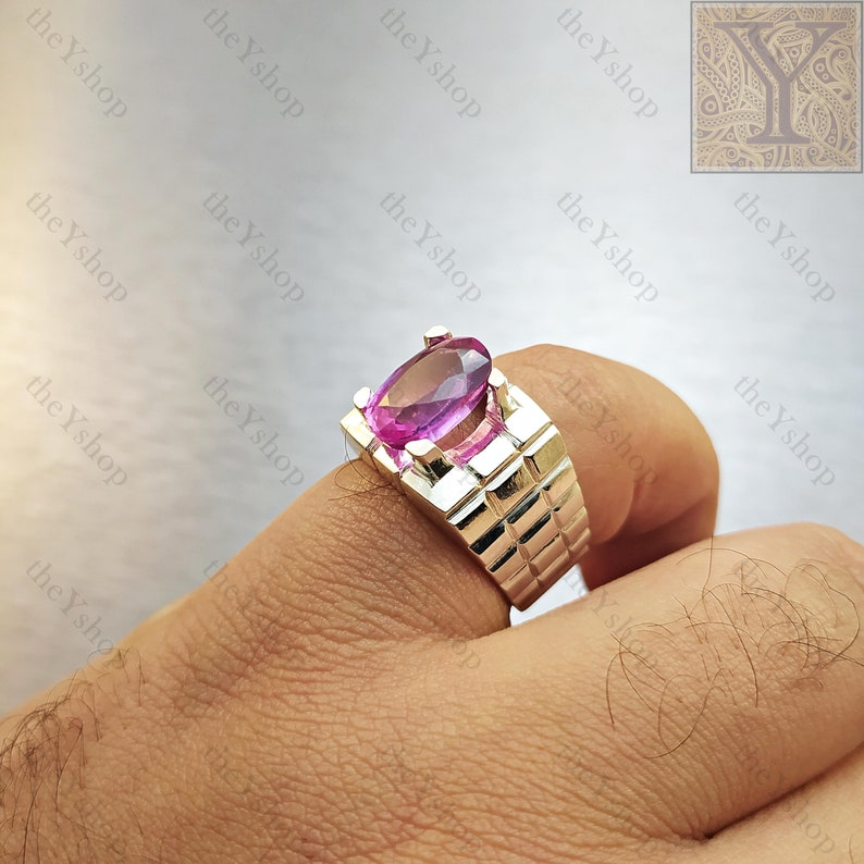 Color Changing ALEXANDRITE Ring CHRYSOBERYL Handmade Ring Exclusive Fashion Ring Red /& Purple Bi-Color Gemstone 925 Sterling Silver
