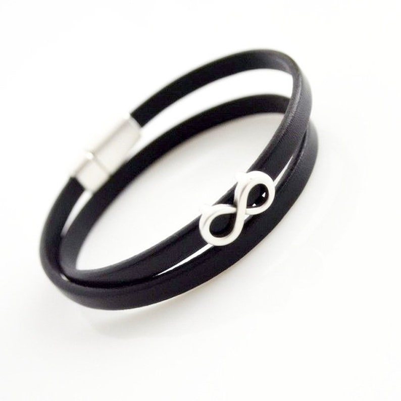black leather INFINITY For lovers :