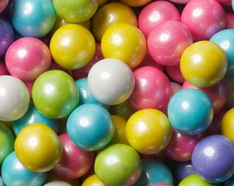 Gumballs Shimmer Spring Mix 25mm or 1 Inch,  FREE Expedited Shipping