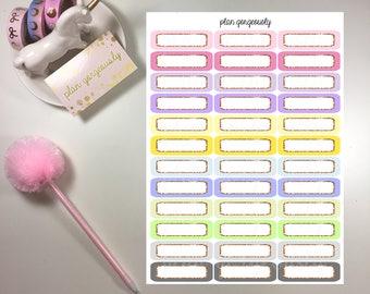 Rose Gold Glitter Quarter Boxes  - PG051