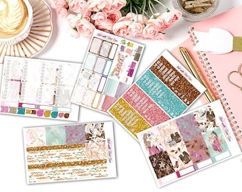 Sparkling Life Kiss-cut weekly kits planner stickers || Erin Condren planner vertical layout
