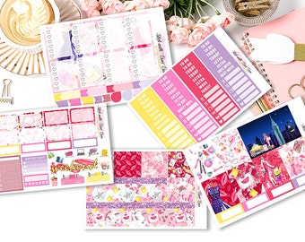 Fashion and the City weekly kits planner stickers || Erin Condren planner vertical layout