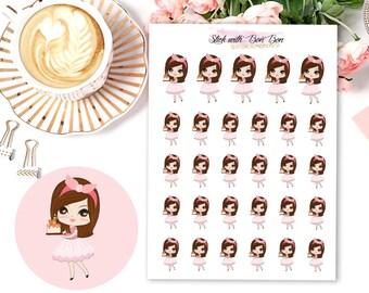 Amelie kawaii BIRTHDAY planner stickers || Erin Condren Life Planner, Kikki K, Plum Paper Planner