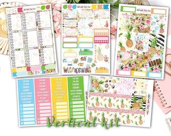 Aloha weekly kits planner stickers || Erin Condren planner vertical layout