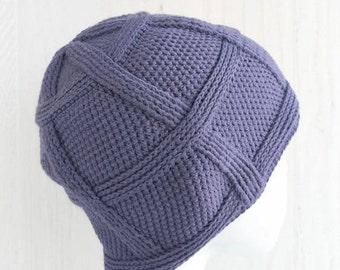 122dae1ab6f Man chemo hat cotton - Crochet mens skull caps - Blue beanie hat for men