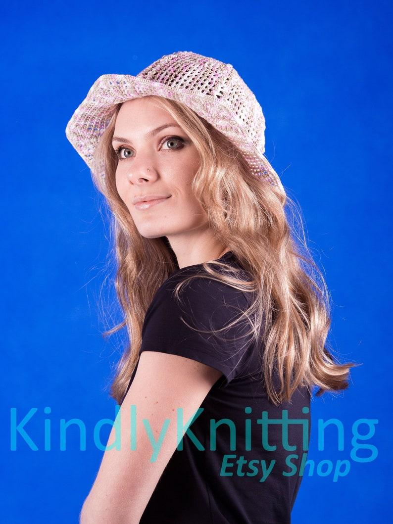 Panama hat Summer crochet bucket hat Cotton cloche hat  Packable sun hat for womens Chapeau panama