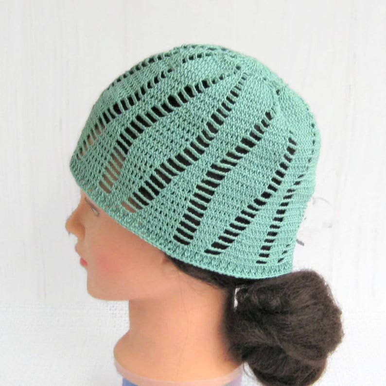 5035bd4fdc9 Cotton lace beanie hat Crochet kufi hat women Chemo headwear