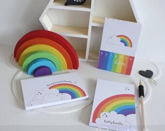 Rainbow Doodle Pad - Rainbow, Love, Pad, Doodle, Note Pad, Gift, Present, Children