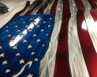 Tattered American Flag 24 inch through 48 inch (24, 32, 36, 40, 44 and 48 inches)