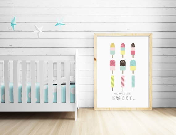 We Are Dotty About You Print Scandinavian Nursery Art 8 x 10 Inches Unframed