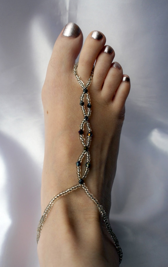 foot sandal, sole less shoes, foot decoration, Bare feet foot Sandals, Beach foot thong accessory, foot jewellery, beach wedding foot wear