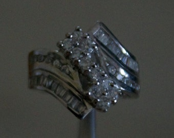 Bold CZ Silver Ring