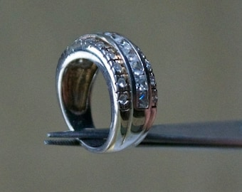 ON SALE High Class CZ Silver Ring
