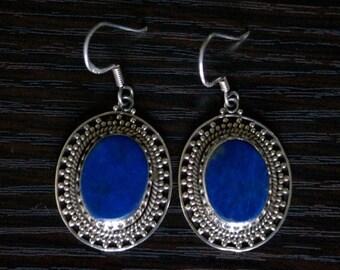 ON SALE High Class LAPIS Lazuli Silver Earrings
