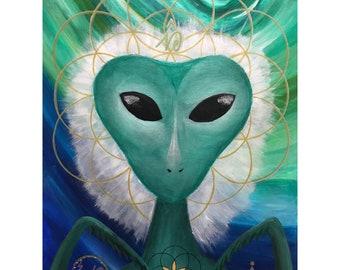 Cassiopeian Mantis Being, Master Healer   Art Print