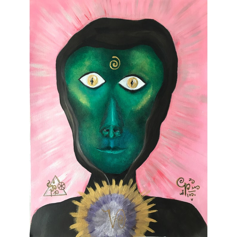 Elohim | The Great White Brotherhood Of Light | Light Language, Art Print,  A4 Giclee Fine Art Print, Spiritual Art, Star People, Painting UK