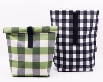 a9b8f6d92 Conjunto de 2 bolsas para comida. Bolsas ecológicas reutilizables e  impermeables