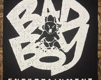 34bb4d64883d Bad Boy Records Silkscreened Hip Hop Punk Diy Patch